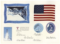 American Flags Flown on Space Shuttles Challenger, Columbia & Atlantis